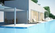 pool house pour piscine dans jardin